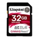Kingston Canvas React SDHC 32GB, UHS-I A1/Class 10
