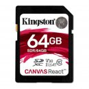 Kingston Canvas React SDXC 64GB, UHS-I A1/Class 10