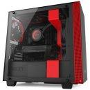 B-Ware - NZXT H400 Micro Tower, schwarz/rot, tempered Glass