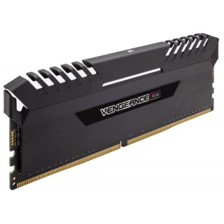 Corsair Vengeance LED RGB schwarz DIMM Kit 16GB, DDR4-3000