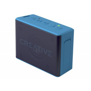 Creative MuVo 2c Wireless Bluetooth Aktivbox Lautsprecher, Blau