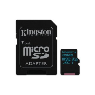 Kingston Canvas Go! microSDXC 128GB Kit, UHS-I U3/Class 10