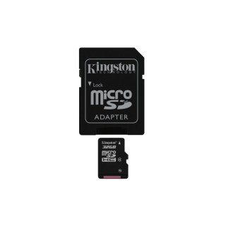 Kingston microSDHC - 32 GB SDC4/32GB - Flash-Speicherkarte 32 GB, Class 4,