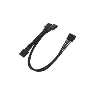 Nanoxia 4-Pin Molex auf 3 x 4-Pin Adapter - 30 cm