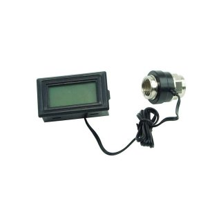Thermosensor Inline G1/4 Innengewinde Mit Display blau