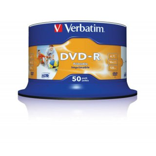 Verbatim DVD-R 4.7 GB 16x, 50er Spindel photo printable