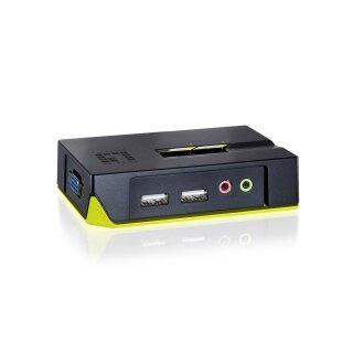 Level One KVM-0221 2-Port USB KVM-Switch mit Audio