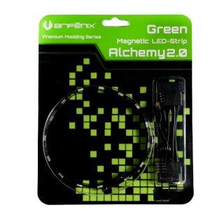 BitFenix Alchemy 2.0 Magnetic LED-Strip - 12cm, 6 LEDs, grün