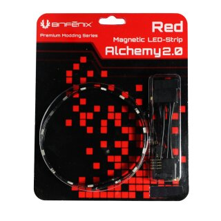 BitFenix Alchemy 2.0 Magnetic LED Strip - 60 cm, 30 LEDs, rot