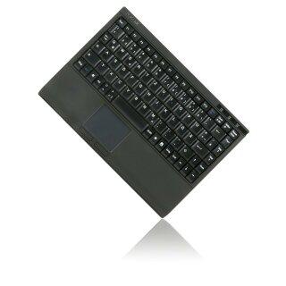 Keysonic Tastatur ACK-540U+ Mini Softskin inkl. Smart Touchpad