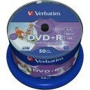 Verbatim DVD+R 4.7 GB 16x, 50er Spindel wide inkjet...