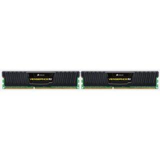 Corsair Vengeance LP schwarz DIMM Kit 16GB, DDR3-1600, CL10-10-10-27