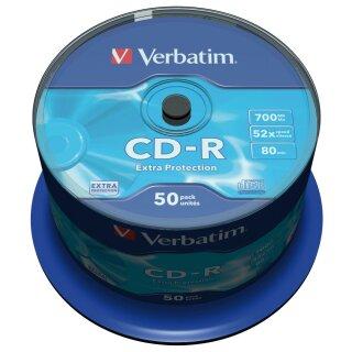 Verbatim CD-R 80min/700MB Extra Protection 52x, 50er-Spindel