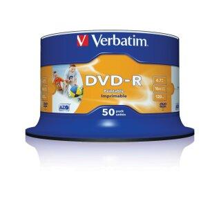 Verbatim DVD-R 4.7 GB 16x, 50er Spindel photo printable