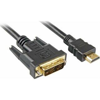 Sharkoon HDMI -> DVI-D (18+1) schwarz 1,0 m