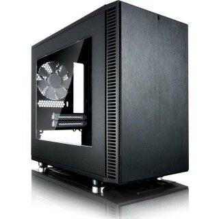 Fractal Design Define Nano S Schwarz mit Window,Seitenfenster,PC Gehäuse,Case