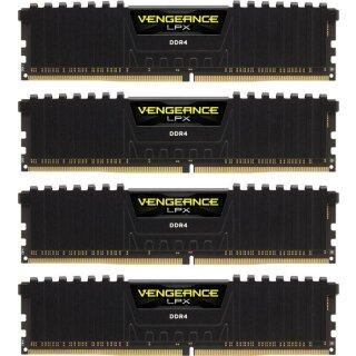 Corsair Vengeance LPX schwarz DIMM Kit 32GB, DDR4-2666, CL16-18-18-35