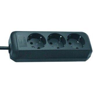 Brennenstuhl Eco-Line schwarz 3-fach, Steckdosenleiste
