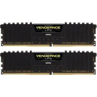 Corsair Vengeance LPX schwarz DIMM Kit 16GB, DDR4-2666, CL16, DDR4 RAM Speicher
