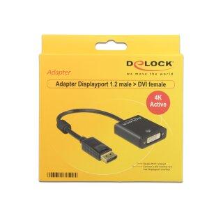 DeLOCK DisplayPort 1.2 (Stecker)/DVI (Buchse) Adapterkabel