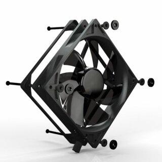 Noiseblocker PL-1 BlackSilentPRO Fan, 120 mm Silent Lüfter, geräuscharmer Kühler