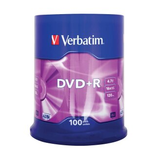 Verbatim DVD+R 4.7GB 16x, 100er Spindel