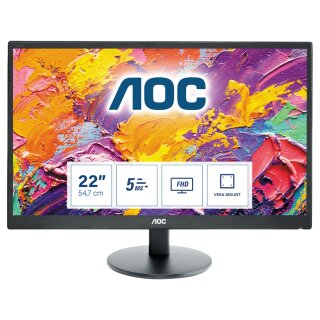 """AOC E2270SWDN TN 54.6cm (21.5"""") Schwarz Full HD LED display 54,6 cm/21,5"""" Monitor"""
