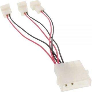Lüfter Adapterkabel, 12V zu 5V, für 3 Lüfter