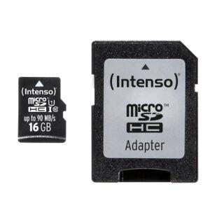 Intenso microSDHC Professional 16 GB, UHS-I/Class 10
