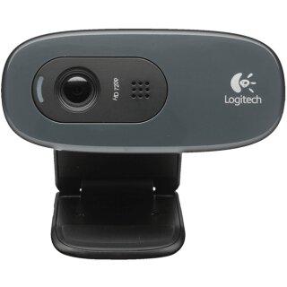 Logitech C270 HD Webcam silber/schwarz, USB 2.0
