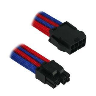 Nanoxia 8-Pin EPS Verlängerung - 30 cm - blau/rot