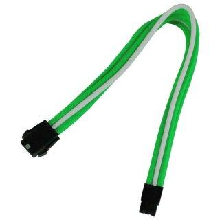 Nanoxia 6-Pin PCI-E Verlängerung, 30 cm, grün/weißer Einzelsleeve