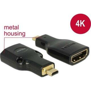 DeLock 4K HDMI Typ D (Micro)/Typ A Adapter schwarz