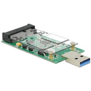 Delock Konverter USB3.0 A Stecker > mSATA