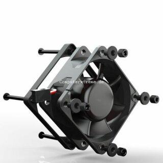 Noiseblocker PR-2 BlackSilentPRO Lüfter, 60 mm geräuscharmer Kühler, FAN