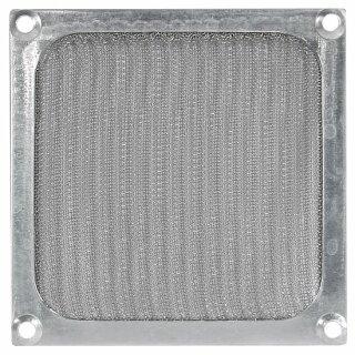 Lüftergitter 120 mm mit Filter - Silber