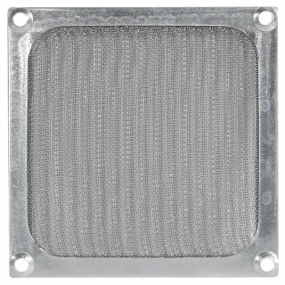 Lüftergitter 140 mm mit Filter, silber