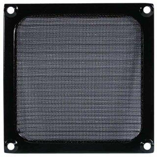 Lüftergitter 92 mm mit Filter - schwarz