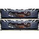 G.Skill Flare X schwarz DIMM Kit 16GB, DDR4-3200, CL14,...