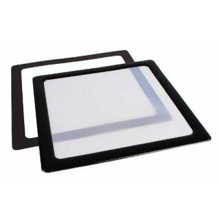 DEMCiflex 120mm schwarz/weiss Dust Filter quadratisch 120mm schwarz/weiss