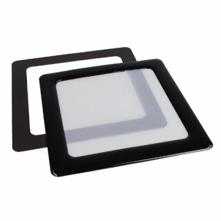 DEMCiflex 80mm, quadratisch - schwarz/weiß Staubfilter, Lüfter Filter, Gehäuse