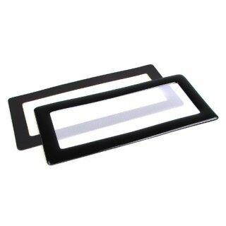 DEMCiflex 2x40mm, quadratisch - schwarz/weiß Staubfilter