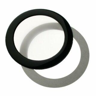 DEMCiflex 80mm, rund - schwarz/weiß Staubfilter