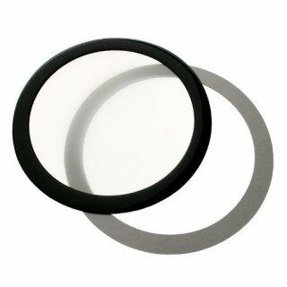 DEMCiflex 92mm, rund - schwarz/schwarz Staubfilter Filter Lüfter Staub Gehäuse