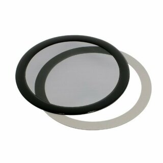 DEMCiflex Staubfilter 120mm, rund - schwarz/schwarz
