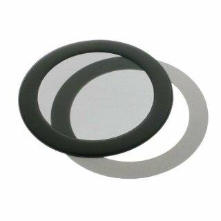 DEMCiflex 80mm, rund - schwarz/schwarz Staubfilter