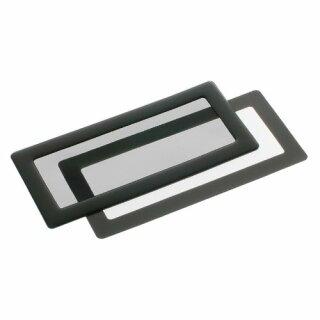 DEMCiflex 2x40mm, quadratisch - schwarz/schwarz Staubfilter
