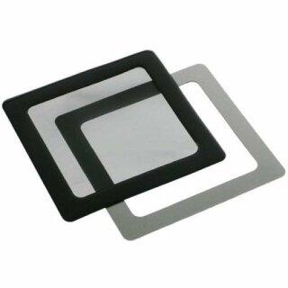 DEMCiflex 120mm Lüfter schwarz 120mm Square Black mesh Staubfilter Lüfterfilter