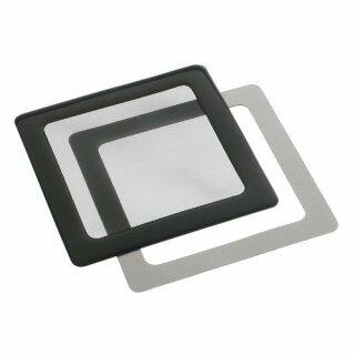 DEMCiflex Staubfilter 80mm, quadratisch - schwarz/schwarz