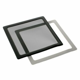 DEMCiflex 230mm, quadratisch - schwarz/schwarz  Staubfilter